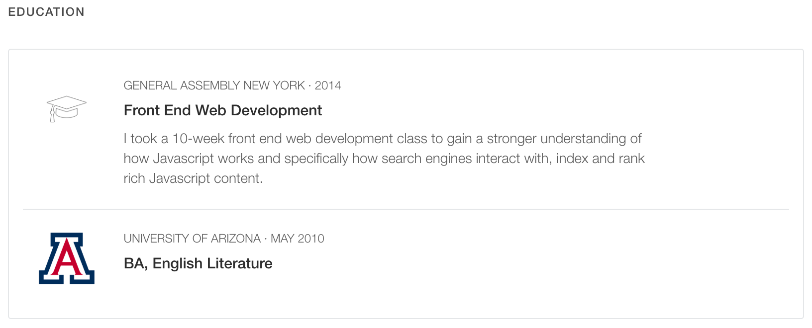 how to add codecademy to your resume