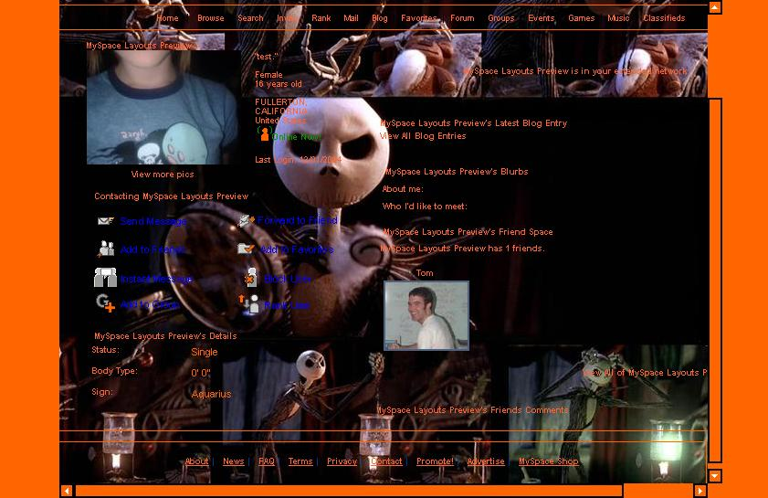 nightmare-before-christmas-myspace-layout